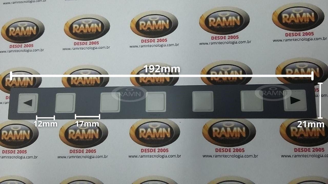 Membrana teclado FANUC A98L-0001-0629 (7 Botões-192mm)